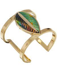 Vince Camuto - Leaf Leather Cuff Bracelet (gold) Bracelet - Lyst