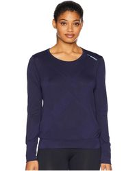 Brooks - Array Long Sleeve Shirt (navy Eclipse Jacquard) Women's Long Sleeve Pullover - Lyst