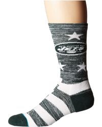 Stance - Nfl Jets Banner (green) Men's Crew Cut Socks Shoes - Lyst