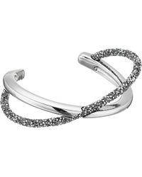Swarovski - Crystaldust Cross Cuff Bracelet (gray) Bracelet - Lyst