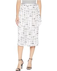 Kenneth Cole - Pleated Skirt - Lyst