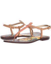 Sam Edelman - Gigi (dusty Rose Royal Snake Print Goat Leather) Women's Sandals - Lyst