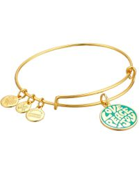 ALEX AND ANI - Words Are Powerful Love Peace Joy Bangle - Lyst