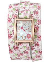Betsey Johnson - Bj00670-07 - Floral Double Wrap Strap - Lyst