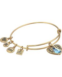 ALEX AND ANI - Charity By Design - Living Water Ii Bangle (rafaelian Gold) Bracelet - Lyst