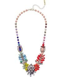 Steve Madden - Jeweled Floral Statement Necklace (gold/silver/multi) Necklace - Lyst