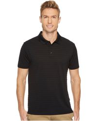 Perry Ellis | Short Sleeve Striped Jacquard Polo | Lyst