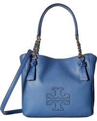 Tory Burch - Harper Small Satchel (wallis Blue) Satchel Handbags - Lyst