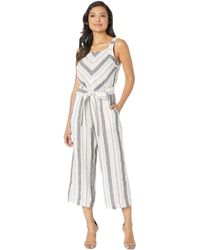 629216a8266 Two By Vince Camuto - Sleeveless Sorbet Stripe Belted Jumpsuit (coral Buff)  Women s Jumpsuit