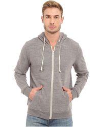 Threads For Thought - Triblend Zip Front Hoodie (midnight) Men's Sweatshirt - Lyst