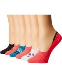 Betsey Johnson - 5-pack Footie With Floral (dots/stripes) Women's Crew Cut Socks Shoes - Lyst
