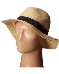 San Diego Hat Company - Ubf1016 Paper Braid Fedora Hat With Bow Brim (natural) Fedora Hats - Lyst