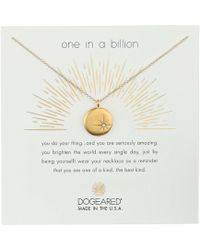 Dogeared - One In A Billion, Sparkle Star Disc Necklace - Lyst