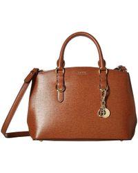 42208e250125 Lauren by Ralph Lauren - Saffiano Zipped Satchel Small (black) Handbags -  Lyst