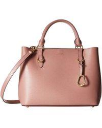 Lauren by Ralph Lauren - Bennington Satchel Medium (black/truffle) Satchel Handbags - Lyst