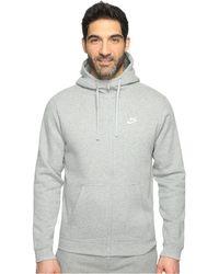 c2ed6baef Nike - Club Fleece Full-zip Hoodie (black/black/white) Men's