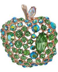 Betsey Johnson - Green Apple Pin (green) Pendants Pins - Lyst