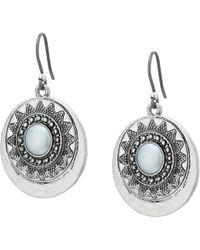 Lucky Brand - Bali Earrings (medium Grey) Earring - Lyst