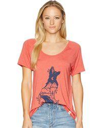 Tentree - Fox Tee (shark) Women's T Shirt - Lyst