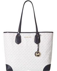 220cfccff982 MICHAEL Michael Kors - Eva Signature Large Tote (vanilla) Tote Handbags -  Lyst