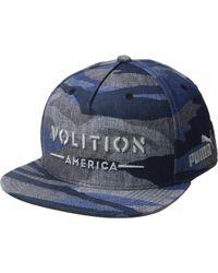 PUMA - Volition Camo Snapback Cap (dark Blue) Baseball Caps - Lyst 7007a32335