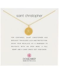 Dogeared - Saint Christopher Travelers Reminder Necklace - Lyst