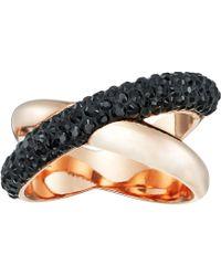 Swarovski - Crystaldust Ring Cross (gold) Ring - Lyst