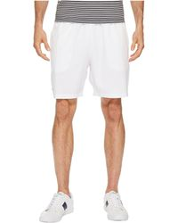 Lacoste - Stretch Taffeta Shorts (white) Men's Shorts - Lyst