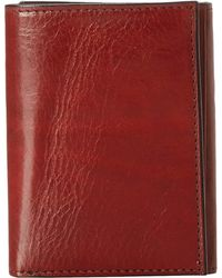 Bosca - Old Leather Collection - Trifold Wallet (dark Brown Leather) Bill-fold Wallet - Lyst