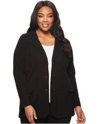 Lauren by Ralph Lauren - Plus Size Knit Sweater Blazer (black) Women's Jacket - Lyst