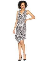 Ellen Tracy - Twisted Front Sleeveless Dress - Lyst