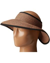 San Diego Hat Company - Ubv002 Ultrabraid Visor With Ribbon Lining - Lyst