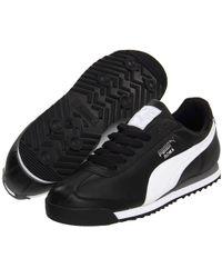 PUMA - Roma Basic (black/black) Men's Shoes - Lyst