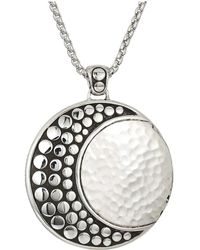 John Hardy - Dot Moon Phase Hammered Pendant On 2 Mm. Box Chain Necklace - Lyst