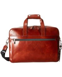 Bosca - Single Gusset Stringer Bag (dark Brown) Bags - Lyst