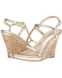 Lilly Pulitzer - Maxine Wedge (gold Metallic) Women's Wedge Shoes - Lyst