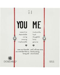 Dogeared - You + Me, Crystal On Red Cord Friendship Bracelets, Set Of 2 - Lyst