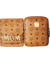 0d6fa3d1752 MCM - Stark Double Logo Belt Bag (cognac) Day Pack Bags - Lyst