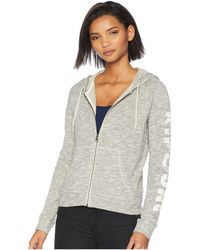 Rip Curl - Paradise Dreams Zip-up (dark Grey) Women's Clothing - Lyst