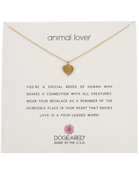 Dogeared | Animal Lover, Heart With Paw Necklace | Lyst