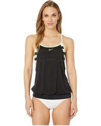 Nike - Sport Stripe Layered Sport Tankini (light Blue Fury) Women's Swimwear - Lyst