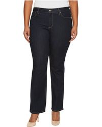 NYDJ - Plus Size Marilyn Straight Jeans In Larchmont Wash (larchmont Wash) Women's Jeans - Lyst