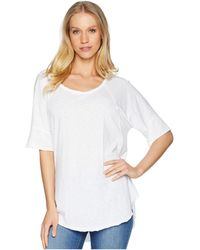 Michael Stars - Supima Cotton Slub Scoop Neck Tunic (white) Women's Blouse - Lyst