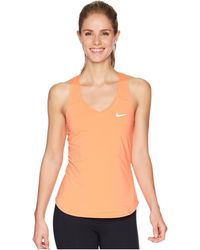 Nike - Court Team Pure Tennis Tank Top (blue Void/white) Women's Sleeveless - Lyst