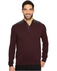 Perry Ellis | Color Block Quarter Zip Sweater | Lyst