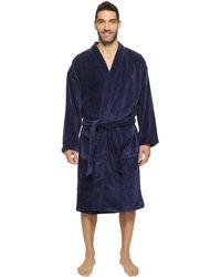 Lyst - Original Penguin Woven   French Terry Robe in Blue for Men 60bb15762