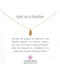 Dogeared - Light As A Feather Reminder (gold) Necklace - Lyst