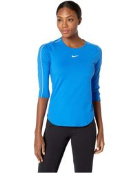Nike - Court Top 3/4 (white/black/black/black) Women's Clothing - Lyst
