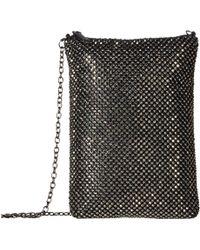Jessica Mcclintock - Gina Sparkle Mesh Shoulder Bag Crossbody (pewter) Cross Body Handbags - Lyst