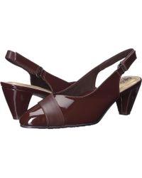 Soft Style - Dagmar (black Kid/patent) Women's Sling Back Shoes - Lyst